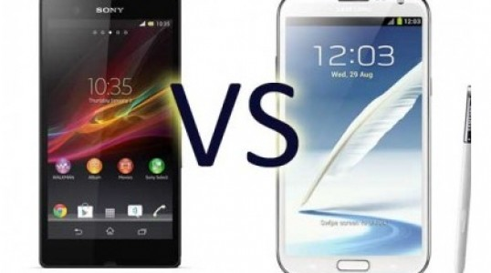 Xperia Z vs. Galaxy Note 2