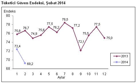 tüketici güven endeksi şubat 2014